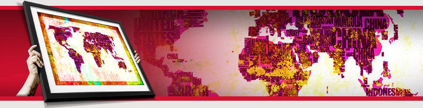Gerahmte Bilder Mit Weltkarten Tolle Designs Nur Hier Erhältlich
