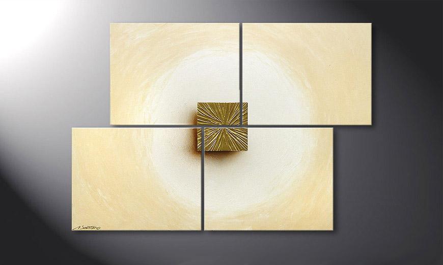Kinder Tapeten Auf Rechnung : Das Wandbild Golden Cube 115x80cm – Wandbilder XXL