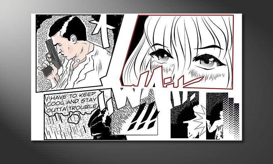 Cars Tapete Auf Rechnung : Das moderne Bild Manga Wait in 100x60cm – Wandbilder XXL