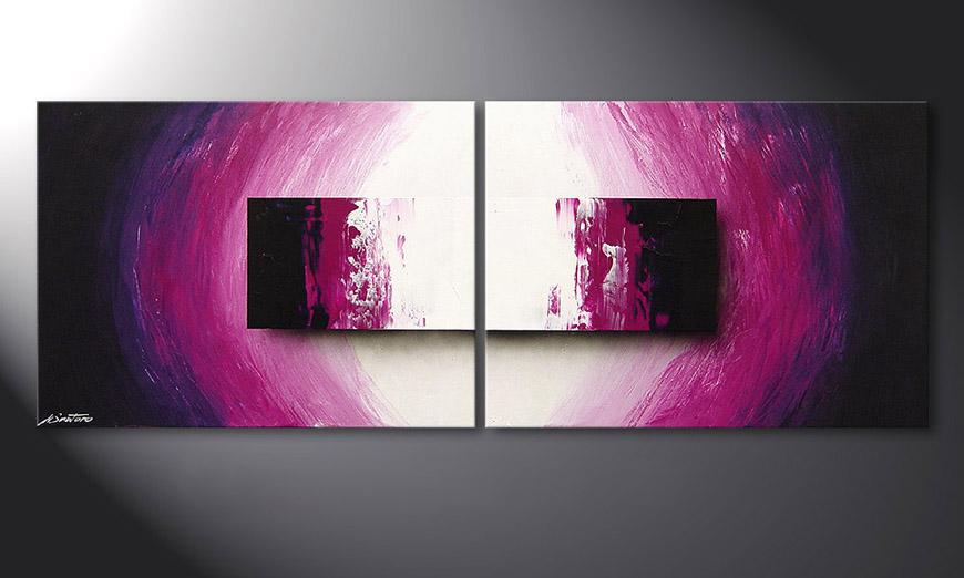 Das moderne Wandbild Purple Rain 160x60cm - Wandbilder XXL