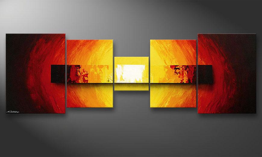 das wandbild fire bloc in 210x70cm wandbilder xxl. Black Bedroom Furniture Sets. Home Design Ideas