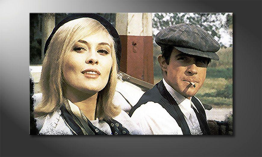 Cars Tapete Auf Rechnung : Das moderne Bild Bonnie and Clyde 100x60cm – Wandbilder XXL