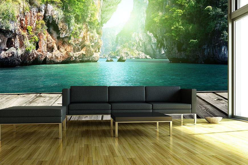 vlies fototapete druck auf hochwertigem tapeten vlies pvc und l semittelfrei leichtes. Black Bedroom Furniture Sets. Home Design Ideas