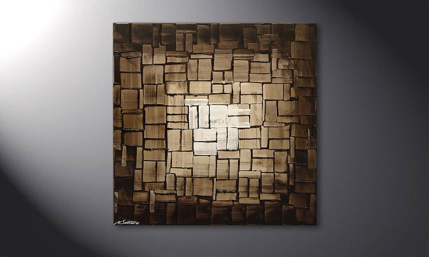 das wandbild cubic light in 80x80cm wandbilder xxl. Black Bedroom Furniture Sets. Home Design Ideas