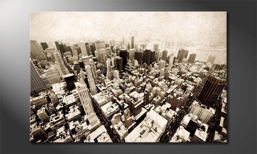 Kinder Tapeten Auf Rechnung : Das moderne Bild New York Vintage – Wandbilder XXL