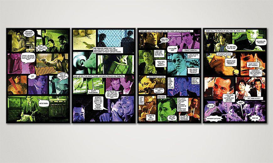 das comic style bild good fellas ii 160x60cm wandbilder xxl. Black Bedroom Furniture Sets. Home Design Ideas