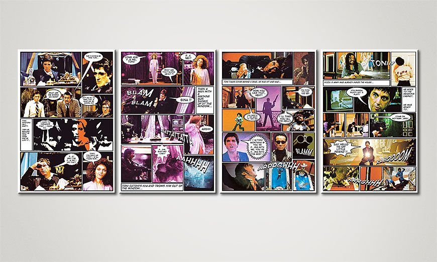 das moderne leinwandbild scarface 160x60cm wandbilder xxl. Black Bedroom Furniture Sets. Home Design Ideas