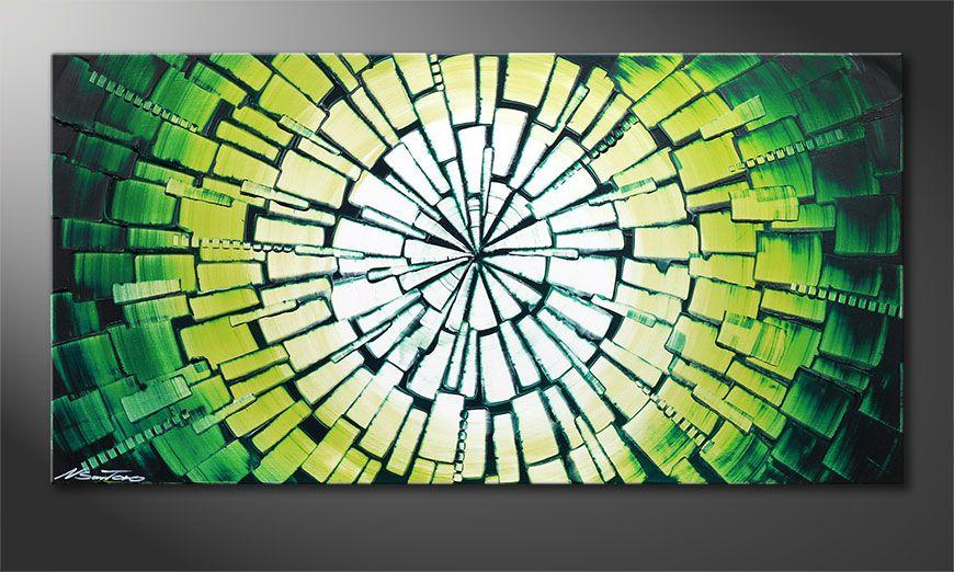 Kinder Tapeten Auf Rechnung : Das Keilrahmenbild Center of Jungle 120x60cm – Wandbilder XXL