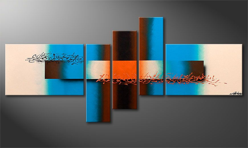 Bilder Mehrteilig Bestellen : Das moderne Wandbild Summer Spirit 180x80cm  Wandbilder XXL