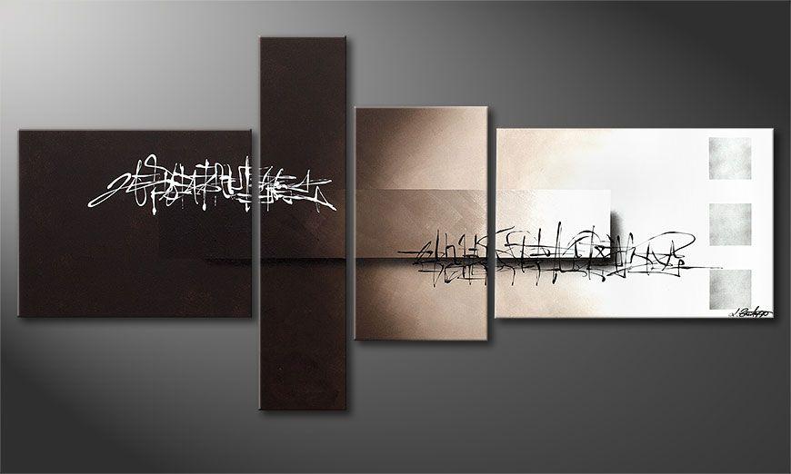 das acrylbild between night day 160x80cm wandbilder xxl. Black Bedroom Furniture Sets. Home Design Ideas