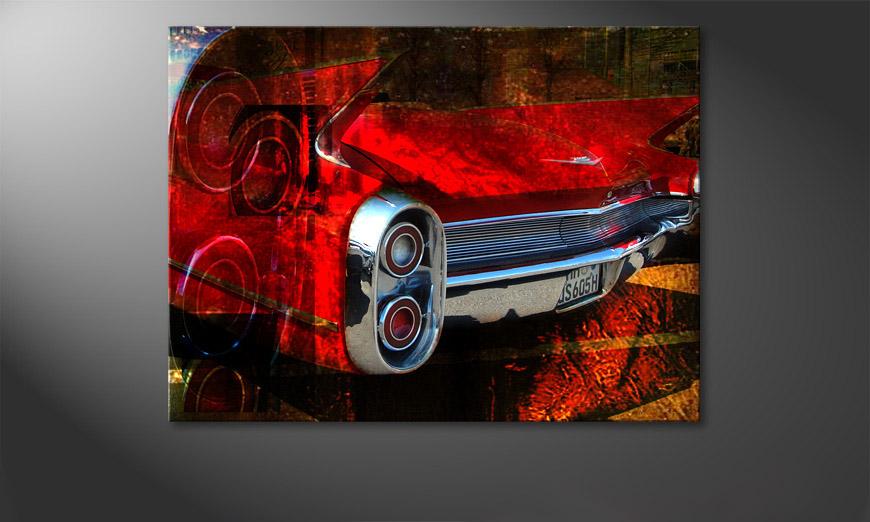 Cars Tapete Auf Rechnung : Das moderne Wandbild Red Car 100x70cm – Wandbilder XXL