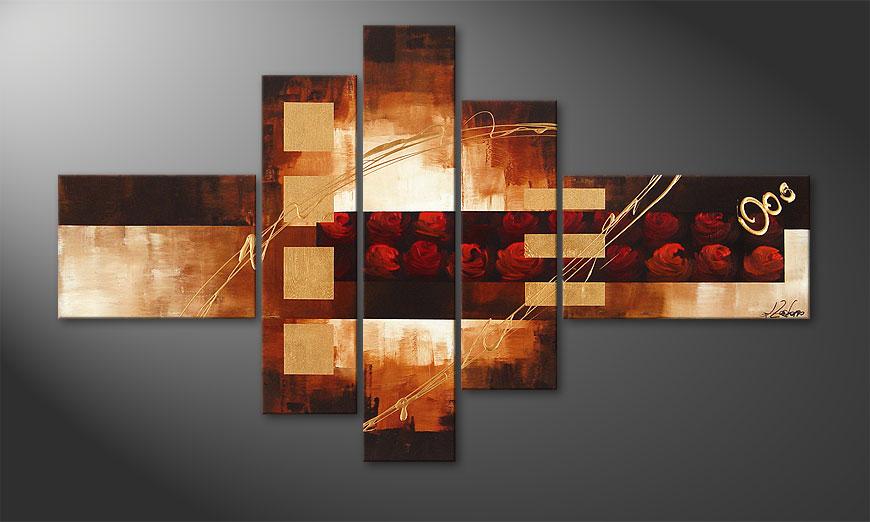 das bild rose phantasies 150x90cm wandbilder xxl. Black Bedroom Furniture Sets. Home Design Ideas