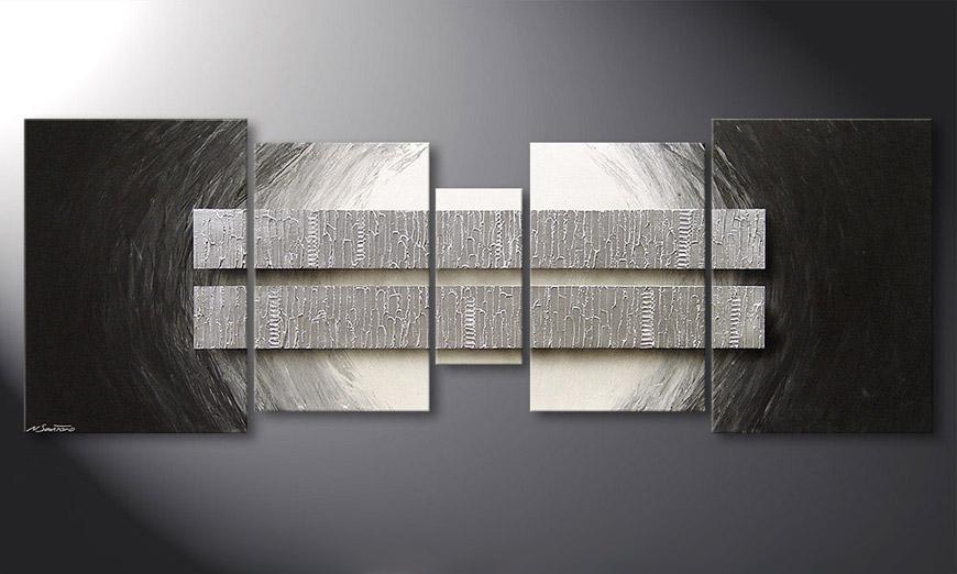 das wohnzimmerbild silver blocs 200x70cm wandbilder xxl. Black Bedroom Furniture Sets. Home Design Ideas