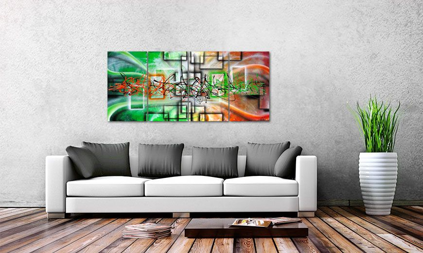 Between Future Past 160x70cm Wandbild