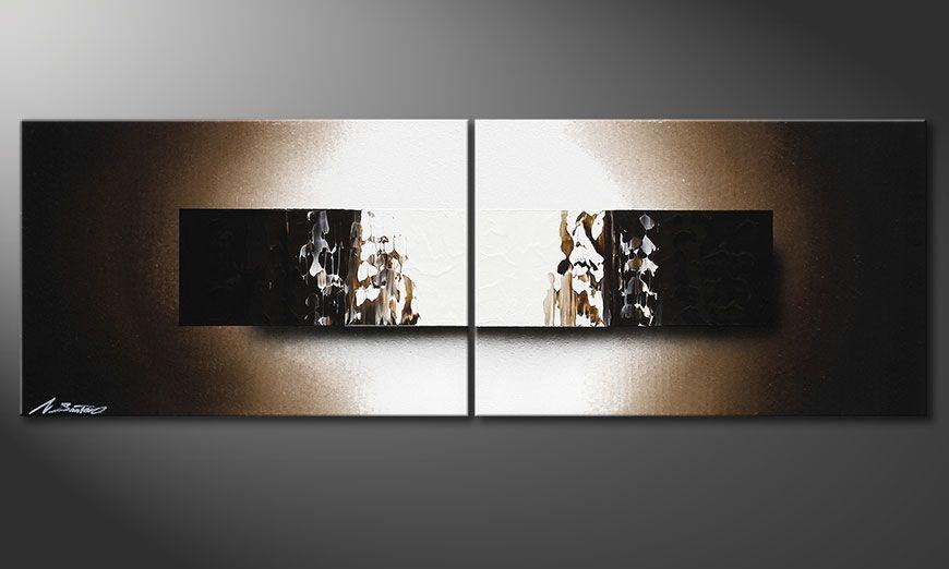 Das Keilrahmen-Wandbild Light Rain 120x40x2cm