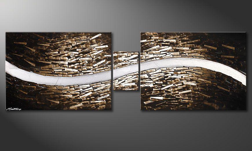 Das Keilrahmenbild Clear River 180x60x2cm
