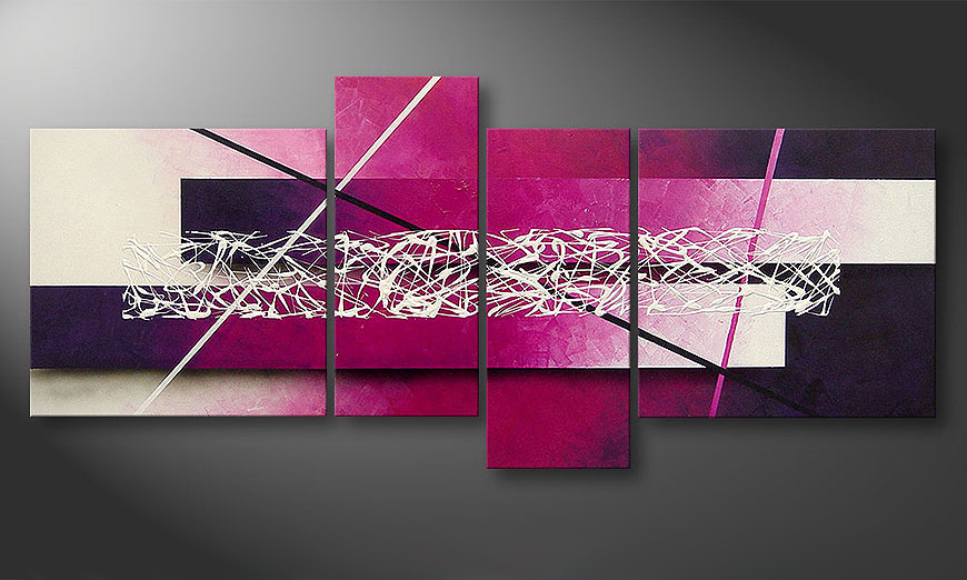 Das Leinwandbild Connection 180x80x2cm