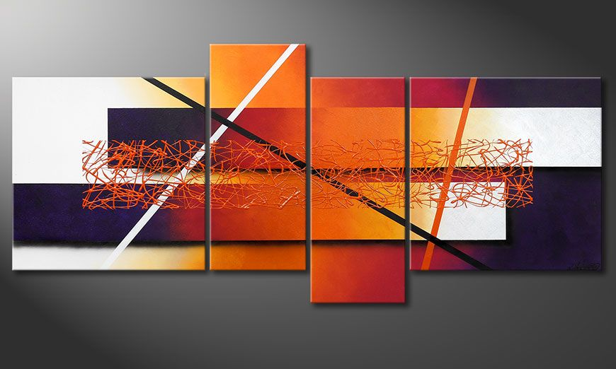 Das Wandbild Afterglowing Memories 180x80x2cm