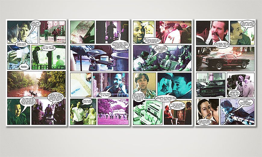 Das Wandbild American Gangster 160x70x2cm