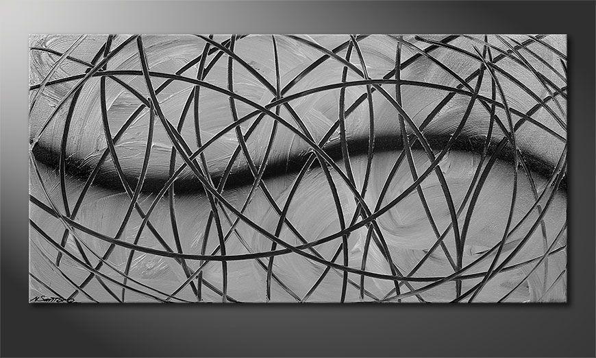 Das Wandbild Broken White 120x60x2cm