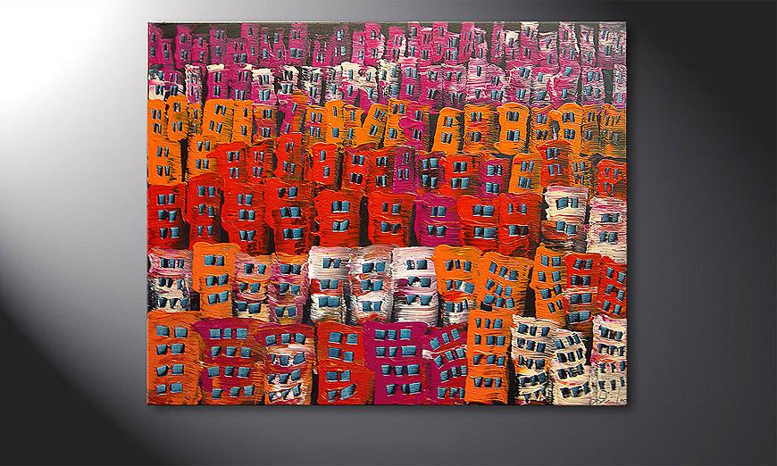 Das Wandbild Carnival 100x80x2cm