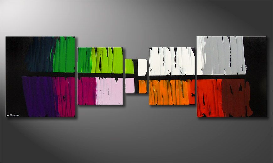 Das Wandbild Colorful Lights 220x70x2cm