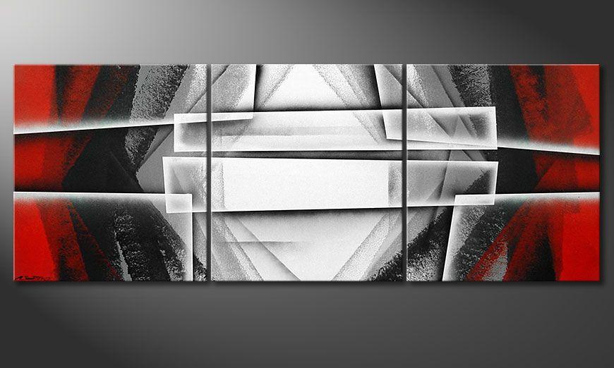 Das Wandbild Deep Silence 180x70x2cm