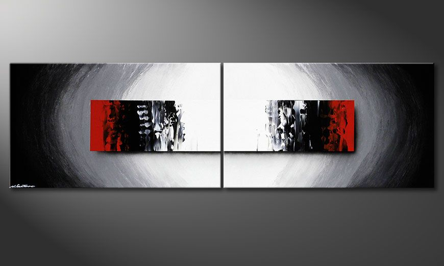 Das Wandbild Deep Space in 200x60x2cm