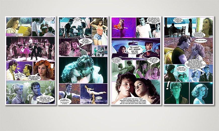 Das Wandbild Dirty Dancing 160x70x2cm