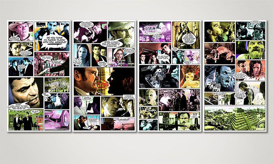 Das Wandbild From Dusk till Dawn 160x70x2cm