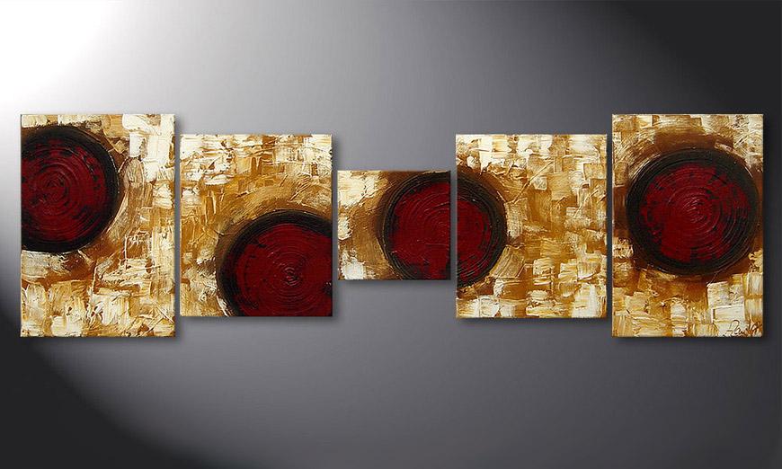 Das Wandbild Hot Spots 190x60x2cm