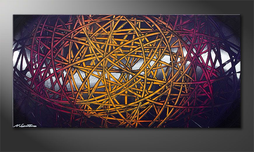 Das Wandbild Indian Moonlight 120x60x2cm