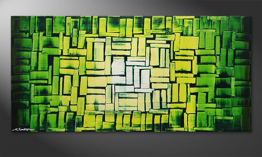 Das Wandbild Jungle Light in 120x60x2cm