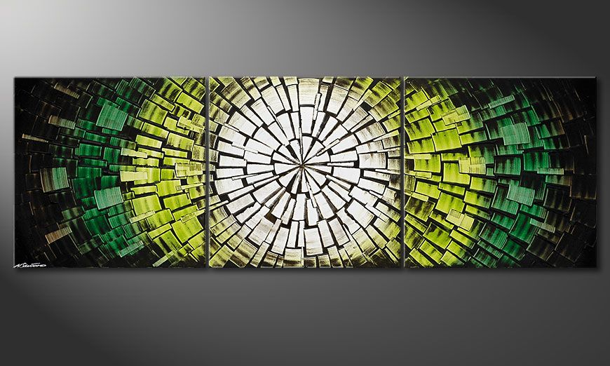 Das Wandbild Light of Hope 210x70x2cm