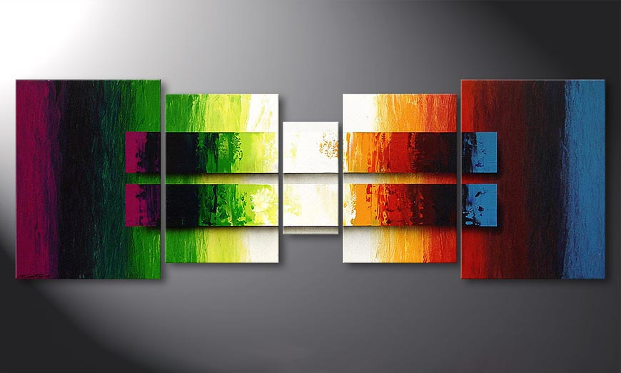 Das Wandbild Liquid Colours 200x70x2cm