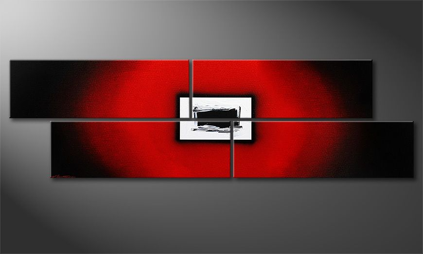 Das Wandbild Lost Red in 200x60x2cm