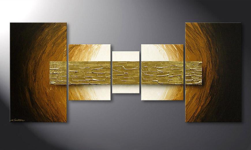 Wandbilder wohnzimmer braun  Das Wandbild Natural Gold in 160x70cm - Wandbilder XXL
