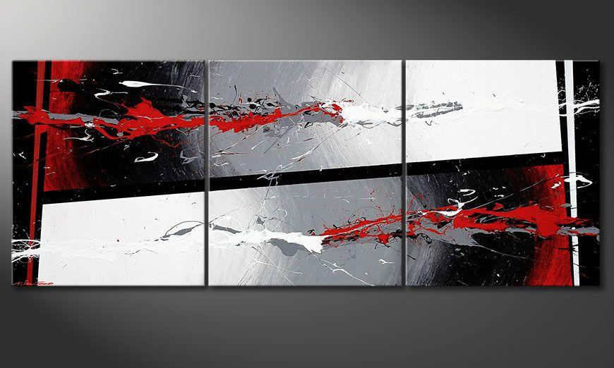 Das Wandbild Powerful Contrast 180x70x2cm