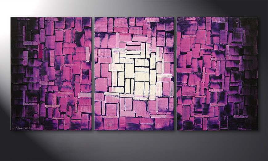 Das Wandbild Purple Afterglow 150x70x2cm