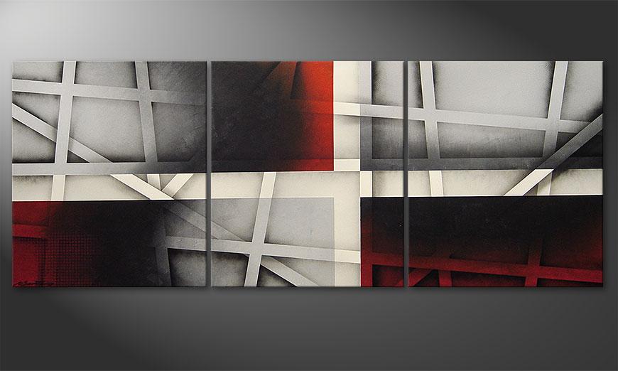 Das Wandbild Sizzling Emotions 180x70x2cm