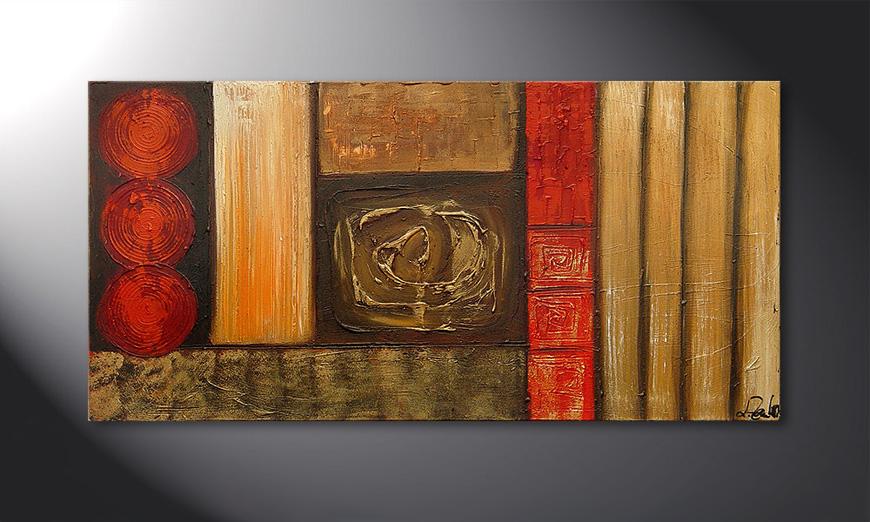 Das Wandbild Stoned Roses 120x60x2cm