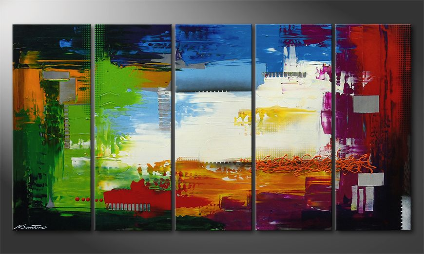 Das Wandbild Strange Day in 150x80x2cm