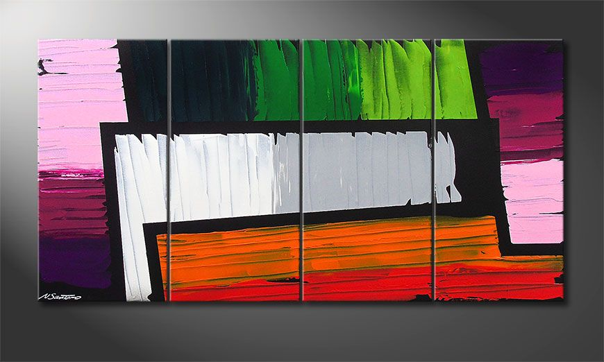 Das Wandbild Structure of Colors 160x80x2cm