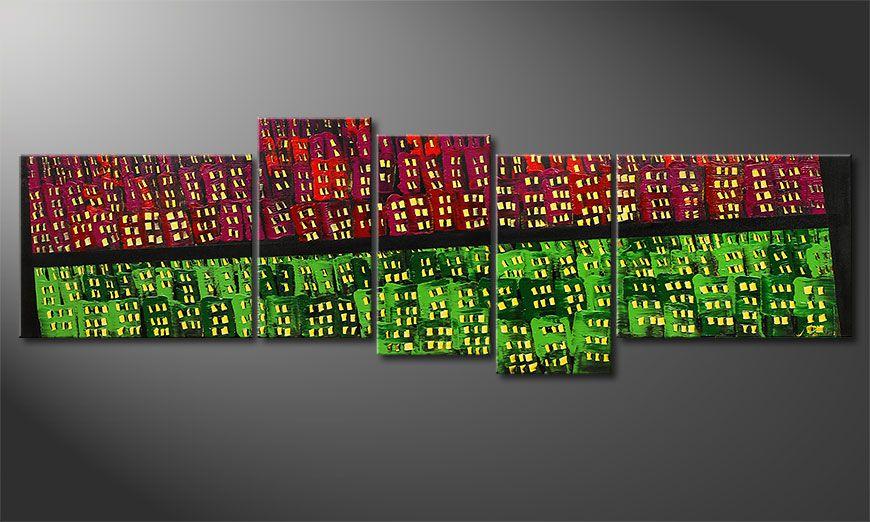 Das Wandbild  Urban Oasis 210x70x2cm