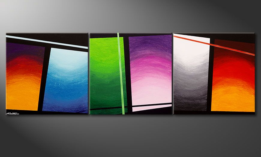 Das Wandbild Wave of Colors 210x70x2cm
