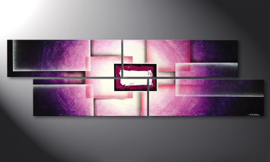 Das Wohnzimmer Bild Purple Sun 200x60cm - Wandbilder XXL