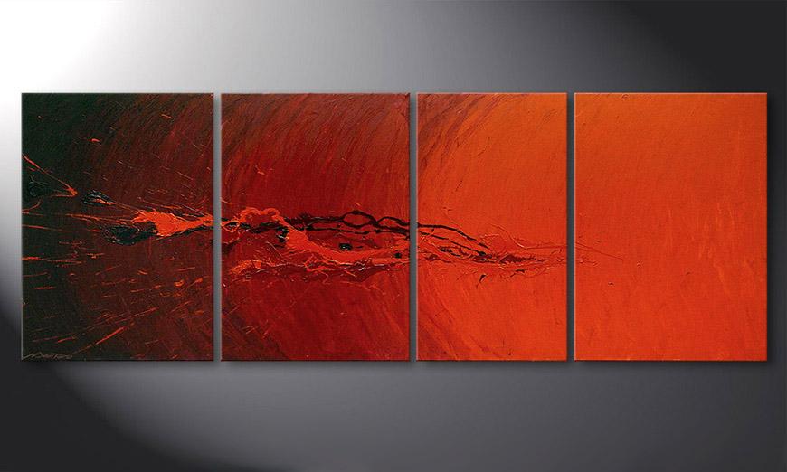 Das Wohnzimmer Bild Splash of Glow 190x70cm - Wandbilder XXL