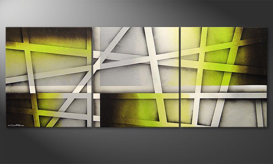 Das Wohnzimmer Bild Vivid Green 180x70cm