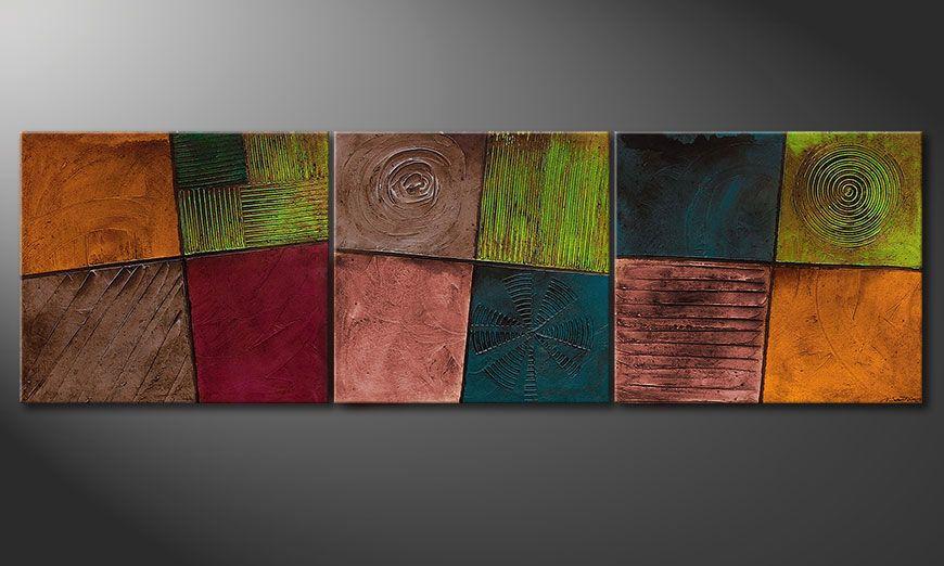 Das Wohnzimmer Wandbild Facets of Life 260x80cm - Wandbilder XXL