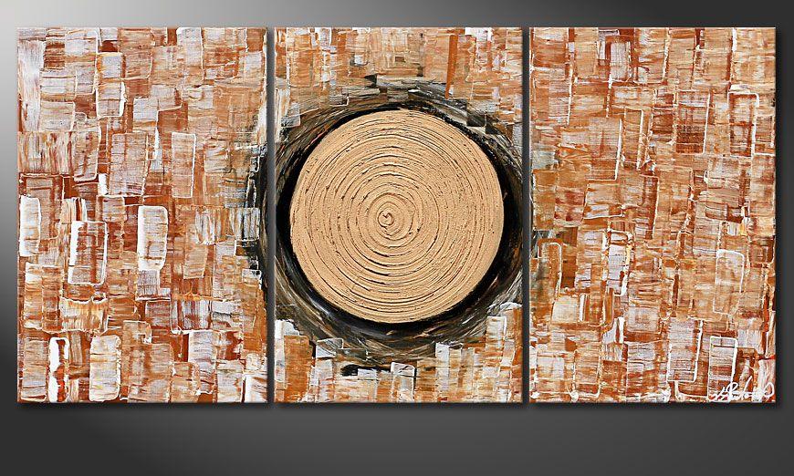 Das Wohnzimmerbild Golden Sun II 120x60x2cm